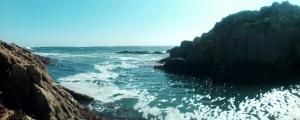 Rocky coastline in Cornwall
